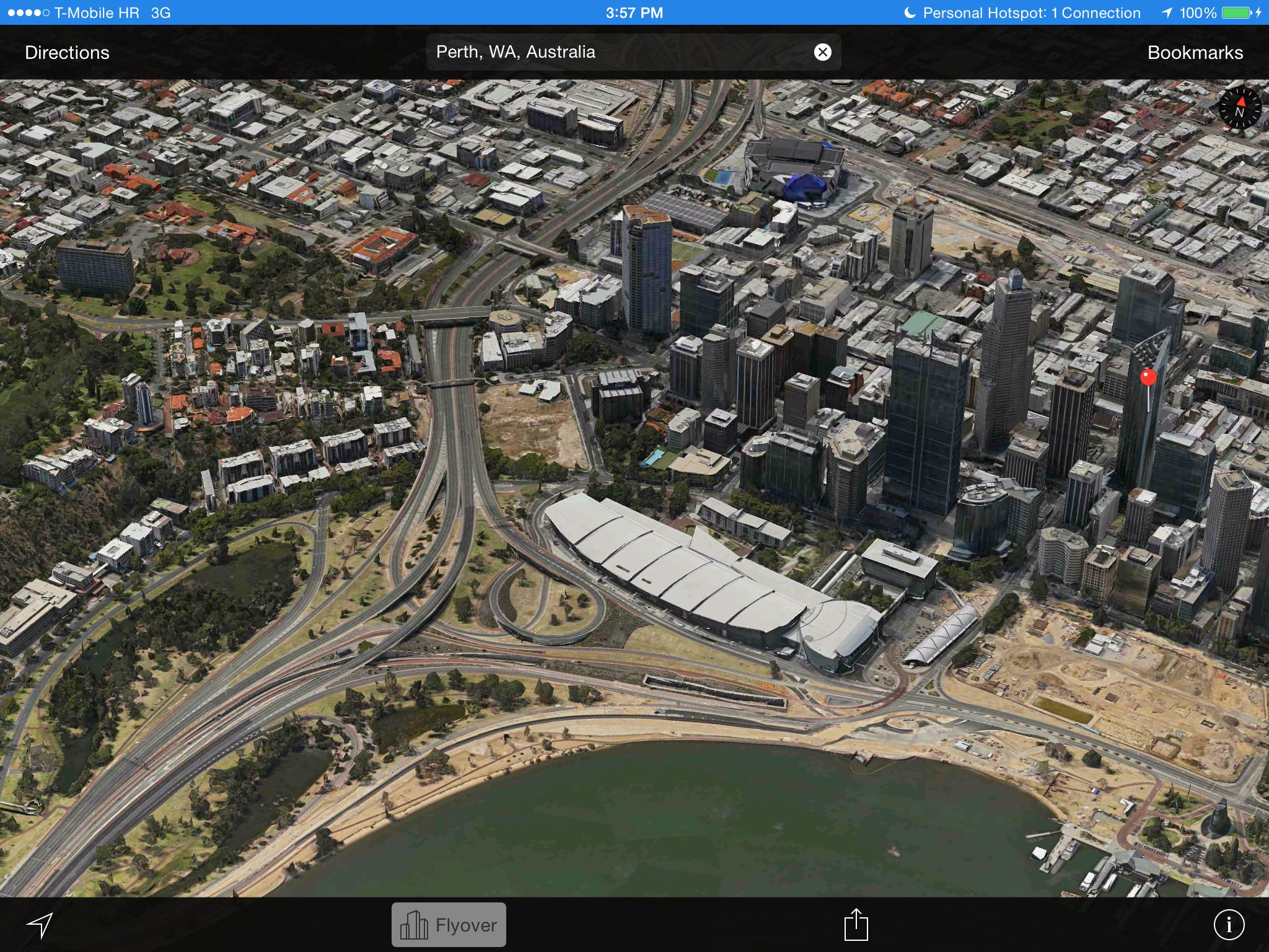 Apple Maps 3D Flyover (Perth, Australia)