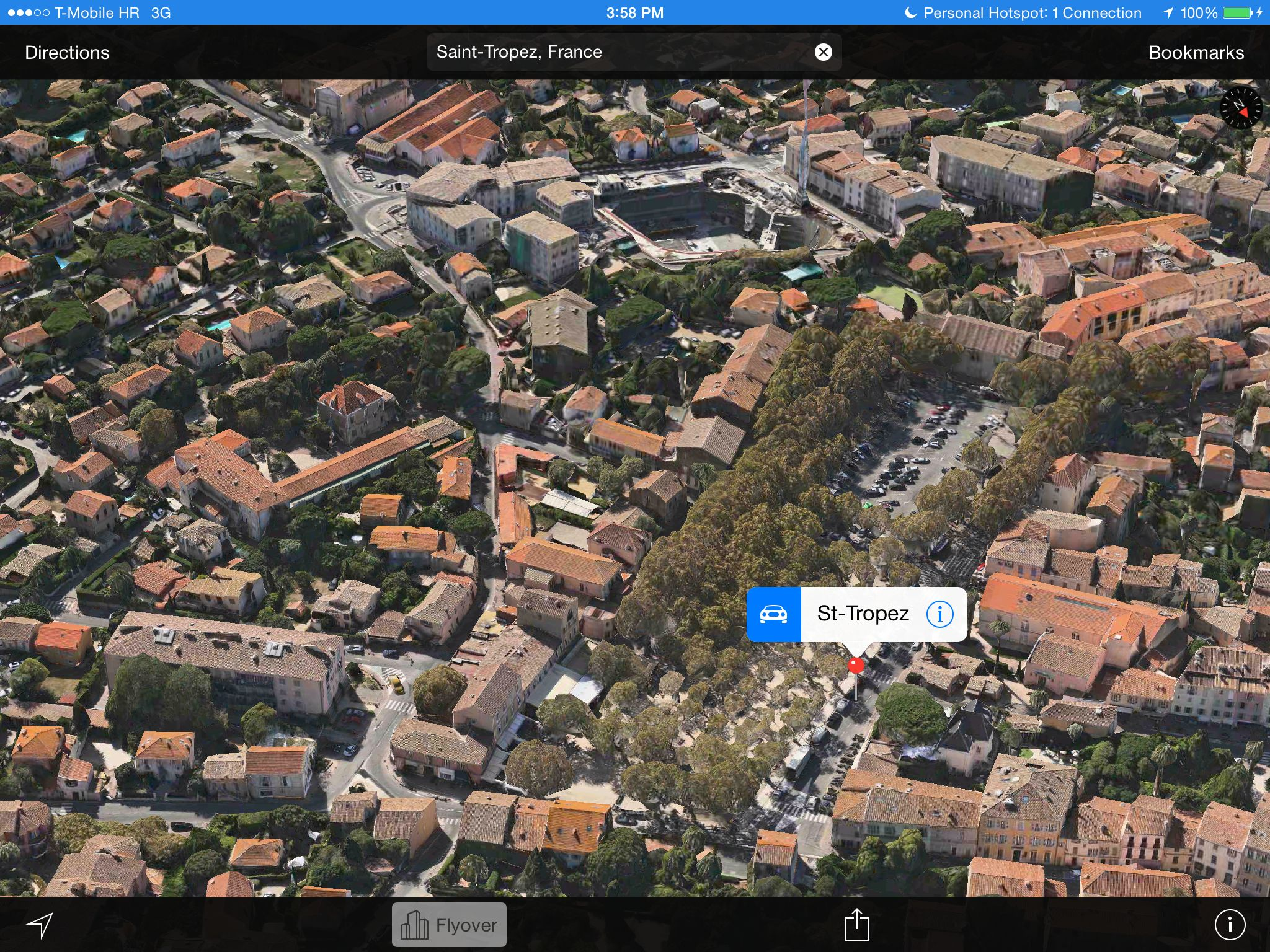Apple Maps 3D Flyover (Saint Tropez, France)