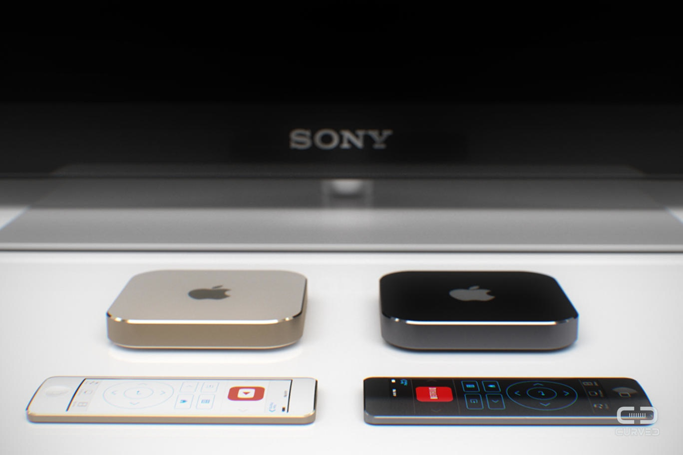 Apple TV mockup (Curved.de 002)