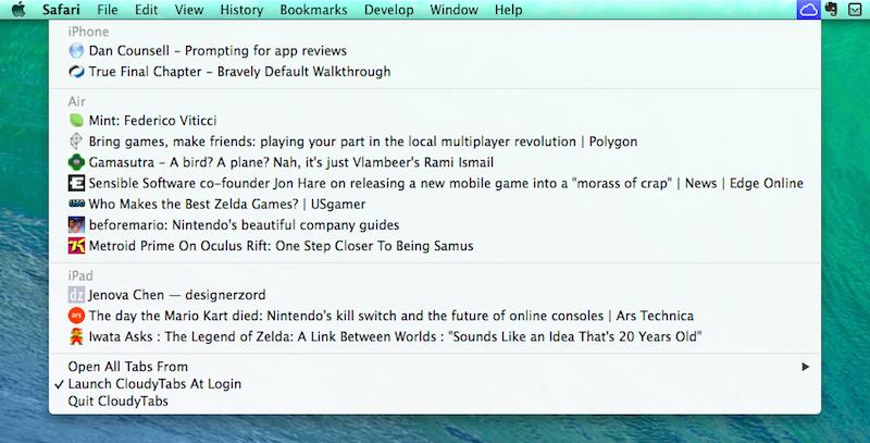 CloudyTabs (Mac screenshot 001)