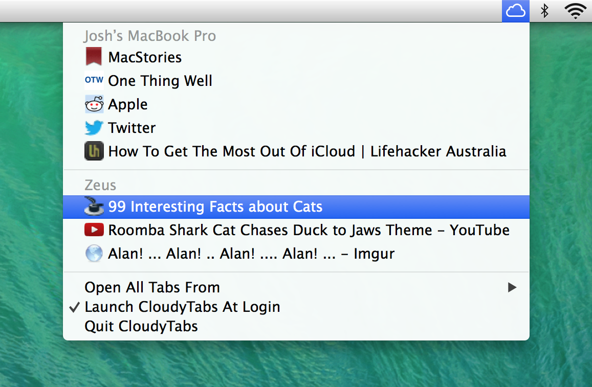 CloudyTabs (Mac screenshot 002)