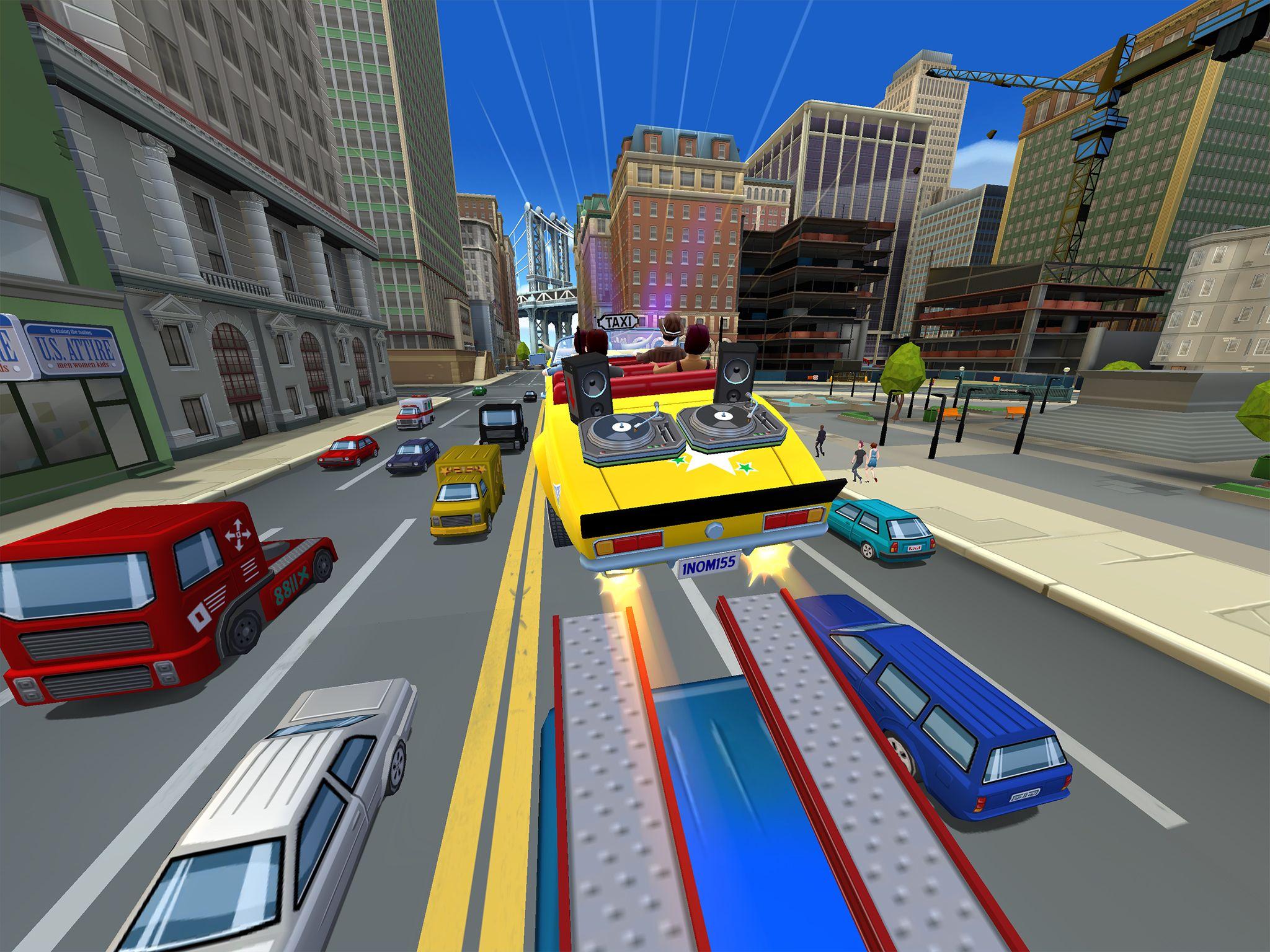 Crazy Taxi City Rush (iPad screenshot 001)