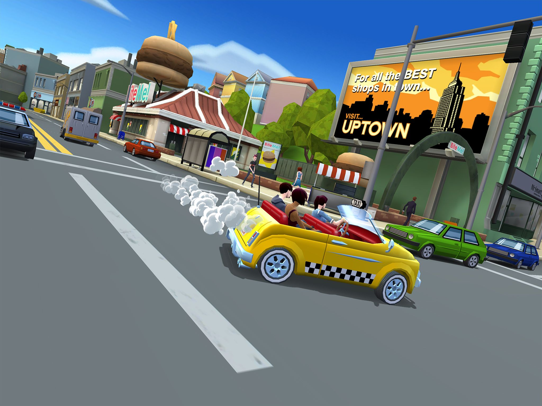 Crazy Taxi City Rush (iPad screenshot 002)