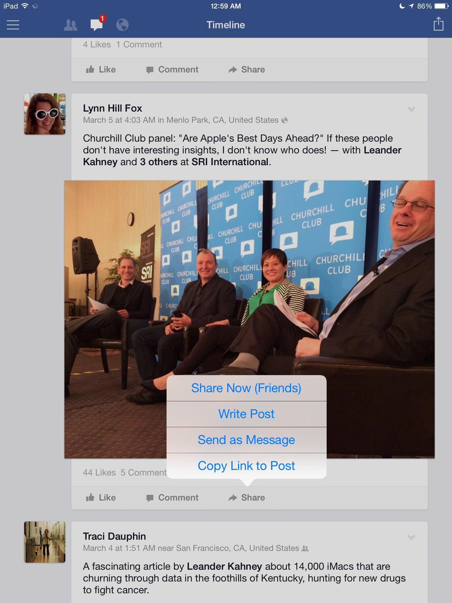 Facebook 8.0 for iOS (iPad screenshot 005)