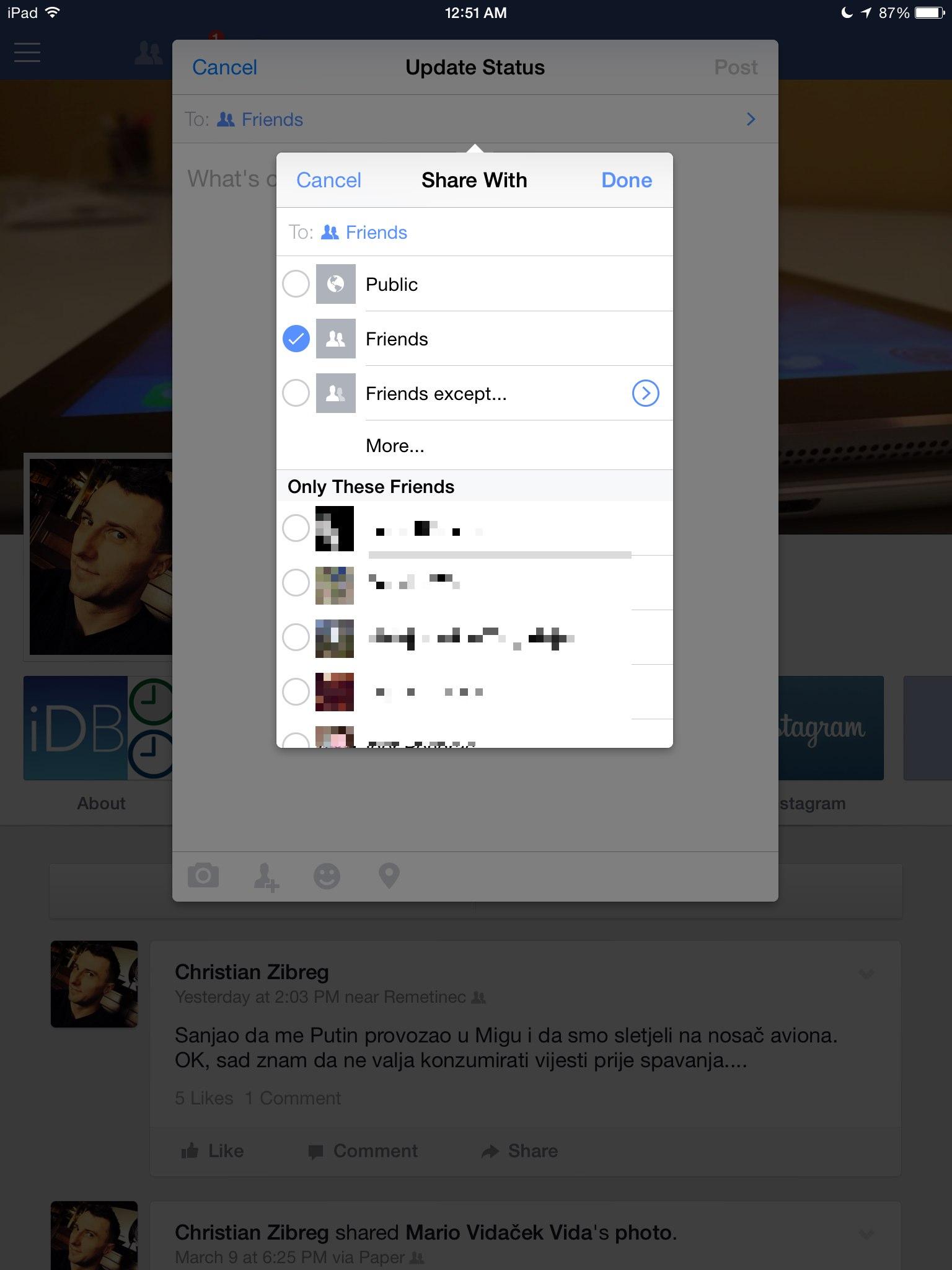 Facebook 8.0 for iOS (iPad screenshot 008)