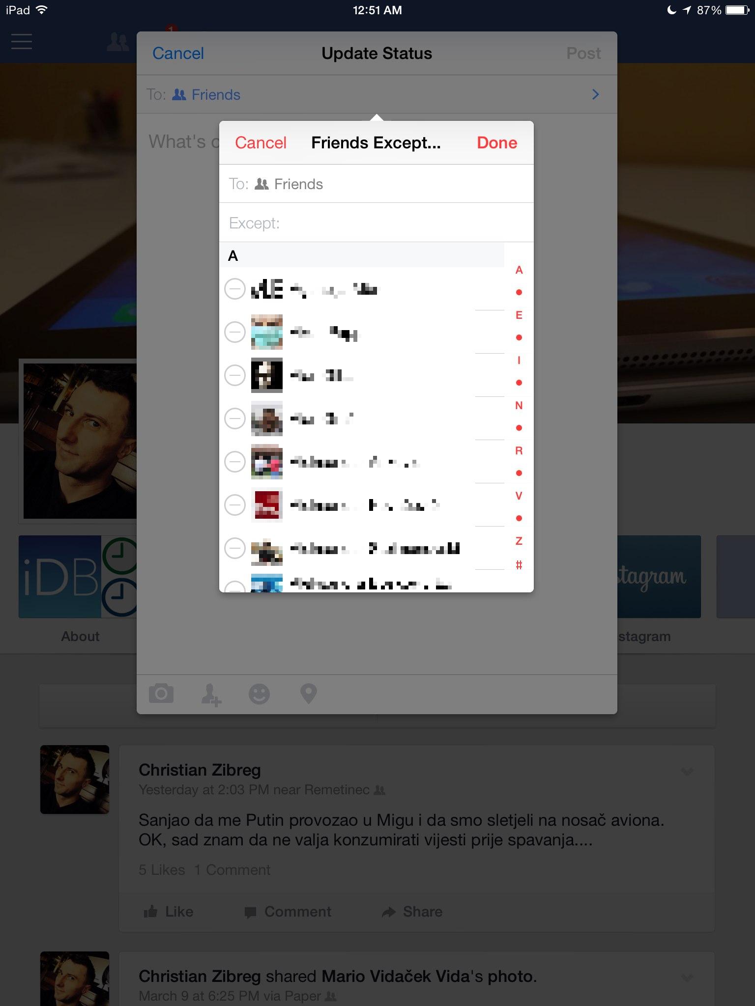 Facebook 8.0 for iOS (iPad screenshot 009)