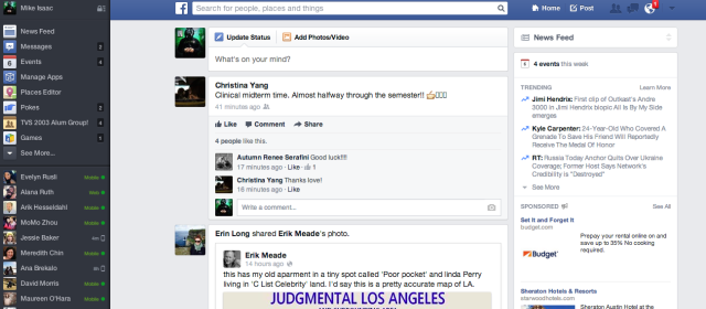 Facebook (original News Feed redesign)