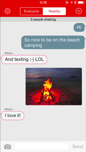 FireChat 1.3 for iOS (iPhone screenshot 002)