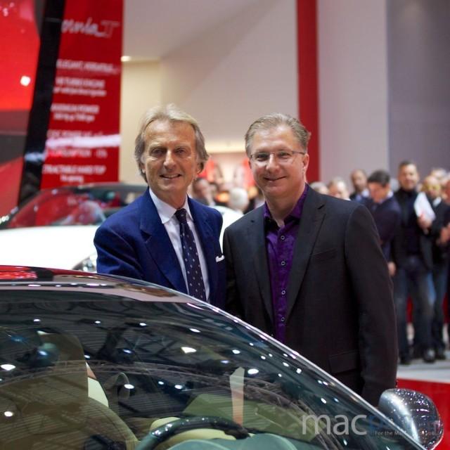 Geneva Auto Show (Ferrari FF CarPlay with Greg Joswiak, MacPrime.ch 001)