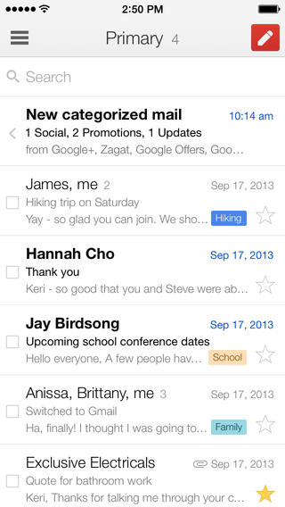 Gmail 3.0 for iOS (iPhone screenshot 001)