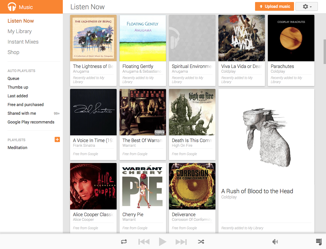 Google Play Music (web screenshot 001)