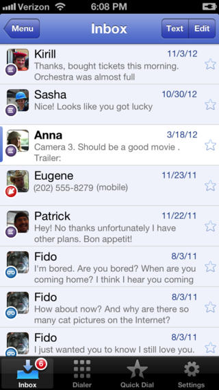 Google Voice 1.5 for iOS (iPhone screenshot 002)