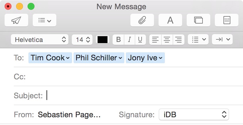 Group email on Mac