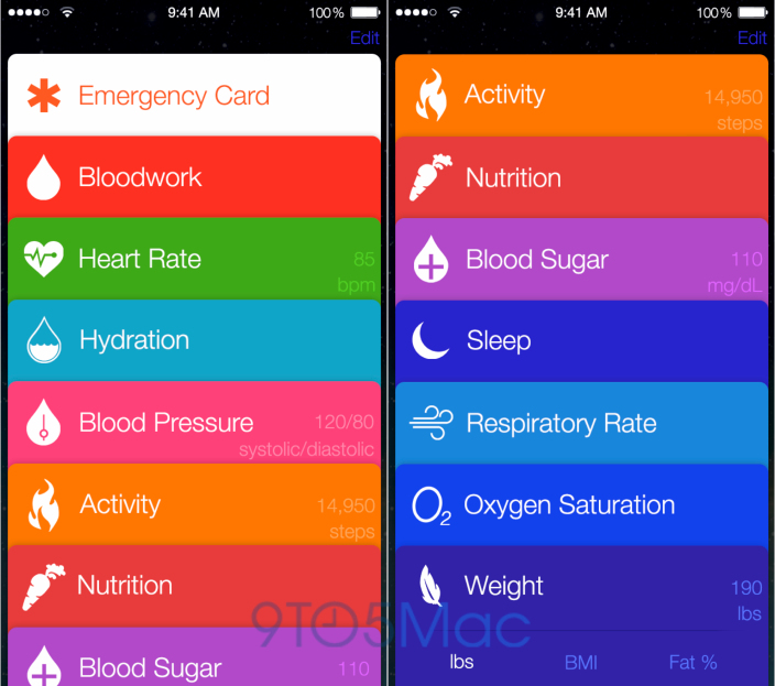 Healthbook (Main screen 001)