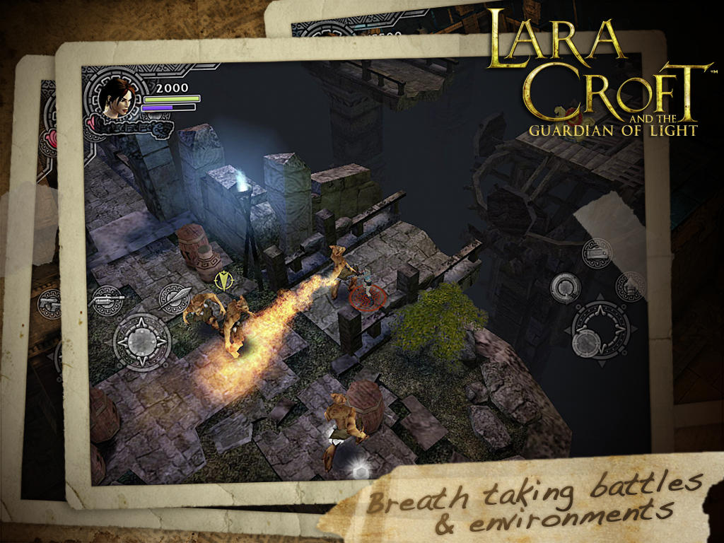 Lara Croft and the Guardian of Light (iPad screenshot 002)