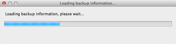 Loading backup information iBackupBot