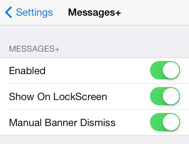 Messages Plus Settings