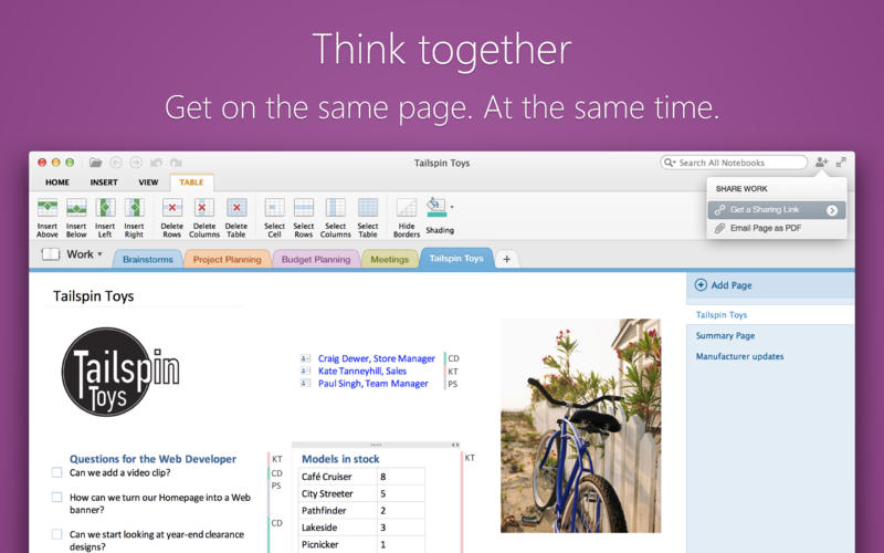 Microsoft OneNote 1.0 for Mac (screenshot 004)