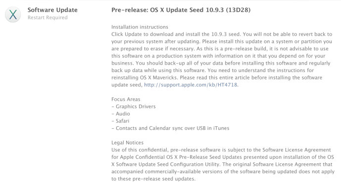 OS X 10.9.3 build 13D28