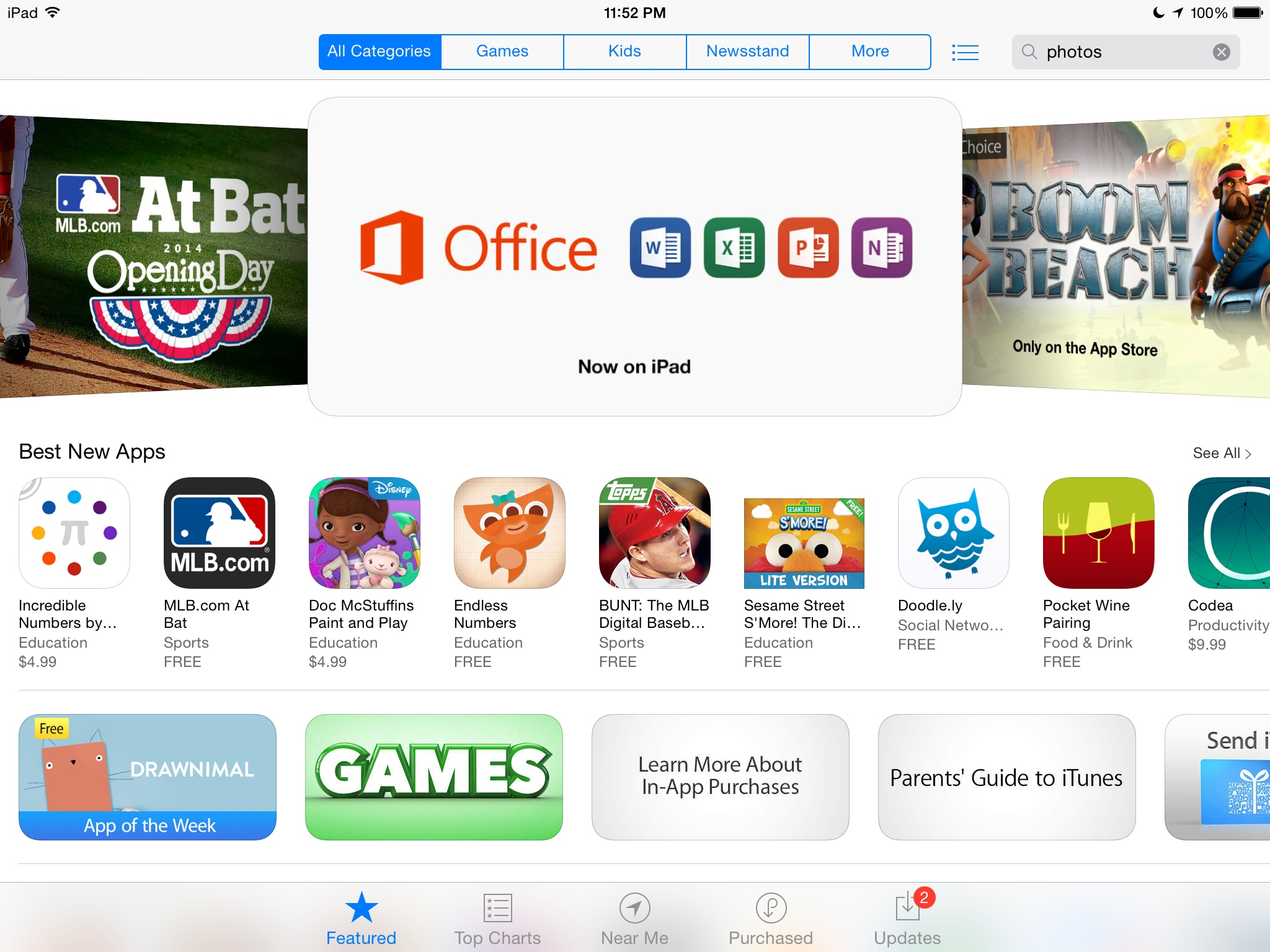Office for iPad (App Store teaser)