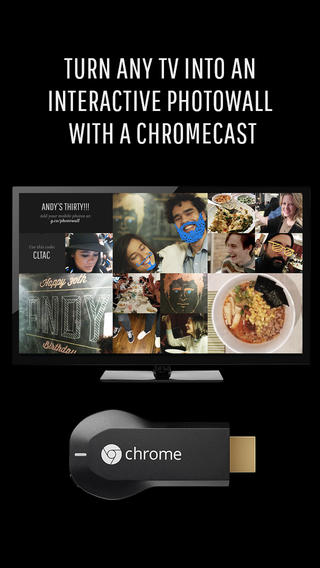 Photowall for Chromecast 1.0 for iOS (iPhone screenshot 001)