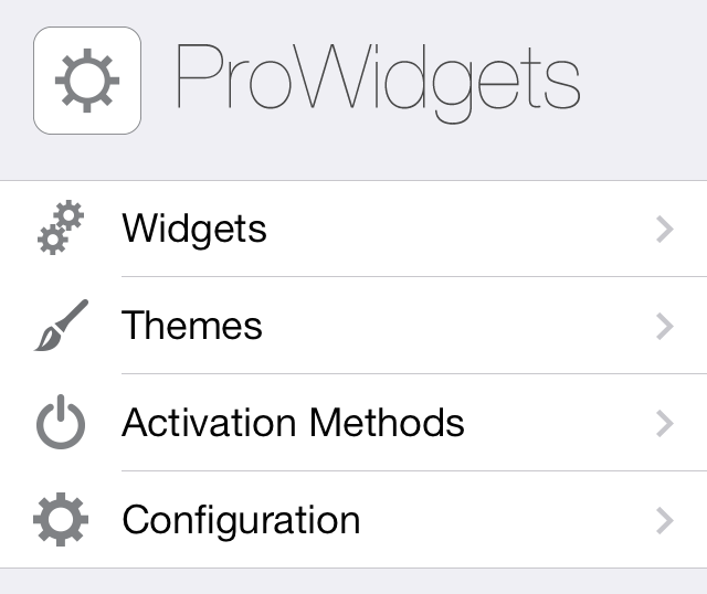ProWidgets Settings 1