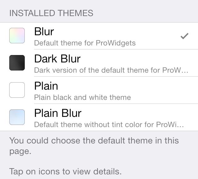 ProWidgets Themes