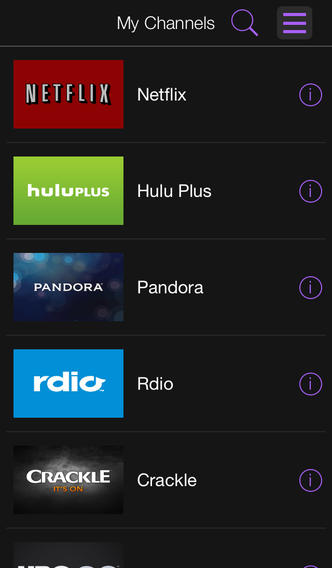 Roku 3.0 for iOS (iPhone screenshot 002)