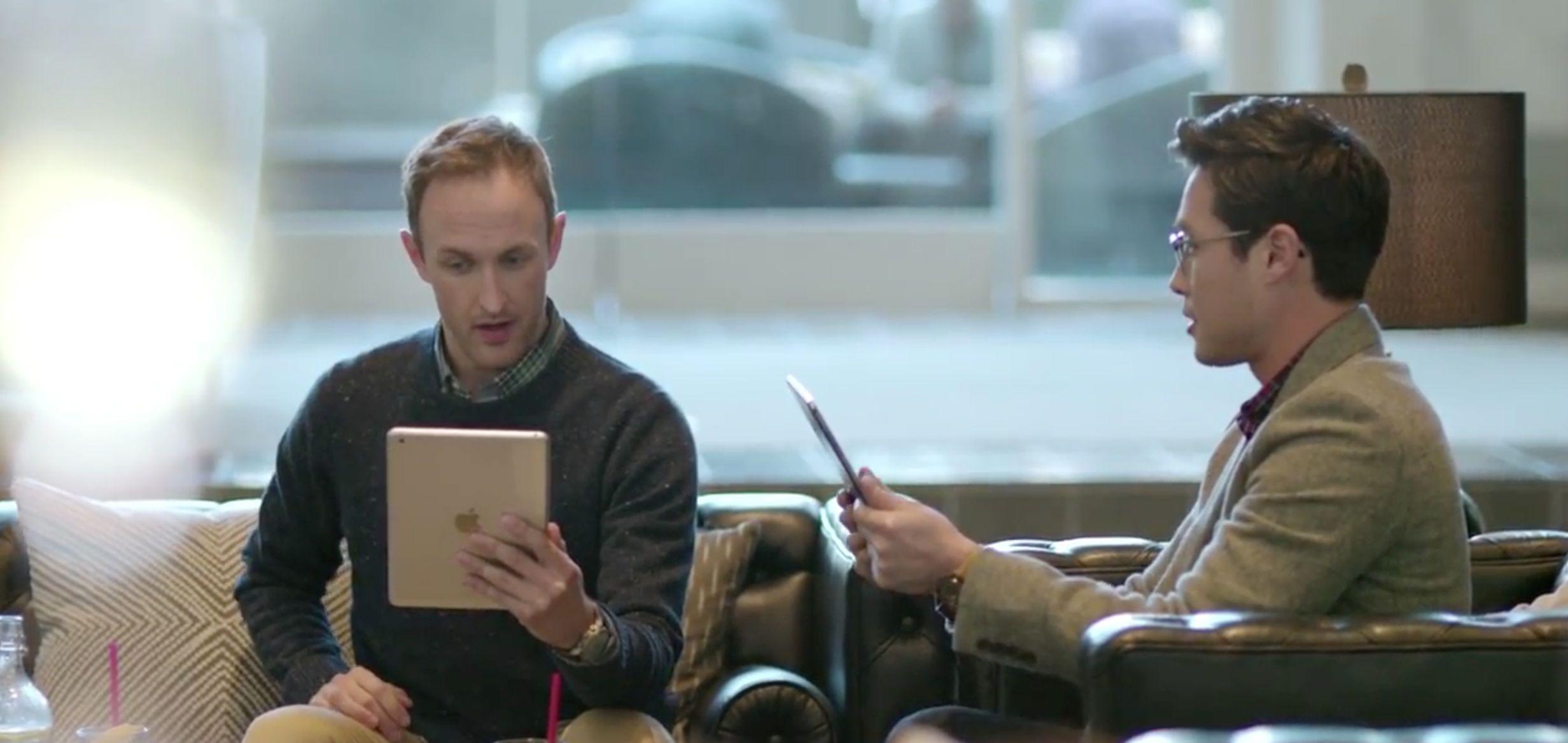 Samsung ad (multitasking Galaxy Tab Pro 001)
