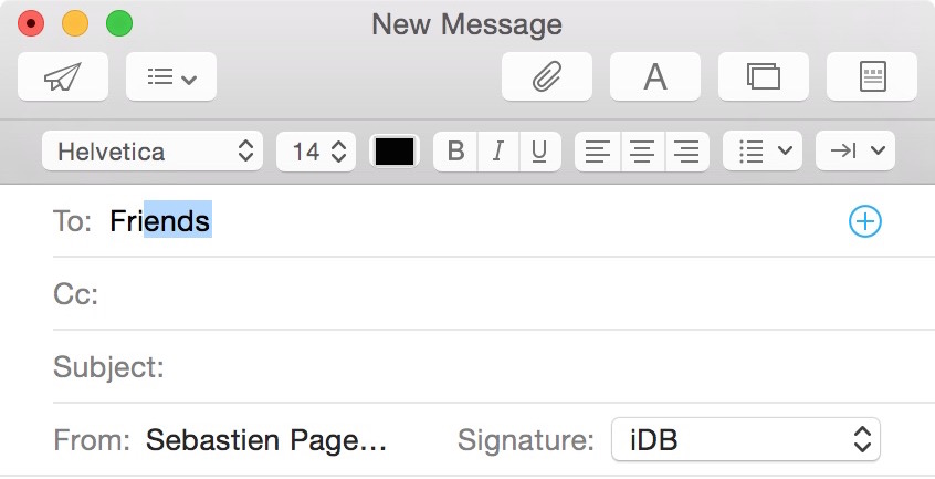 Send email to a group on Mac