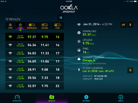 Speedtest.net 3.2 for iOS (iPad screenshot 003)