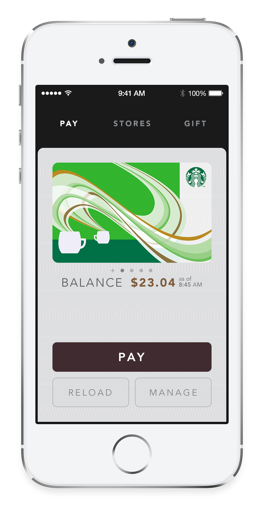 Starbucks (iPhone screenshot, Pay)
