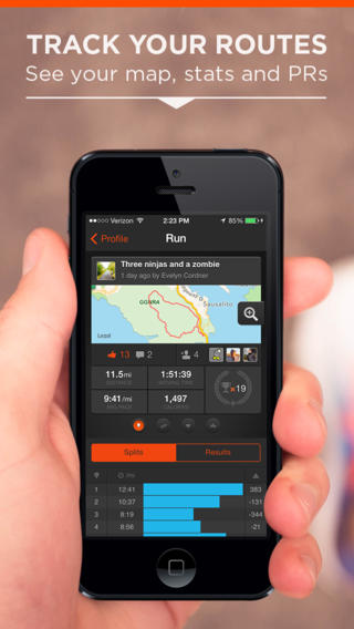 Strava Running and Cycling 4.0 for iOS (iPhone screenshot 001)