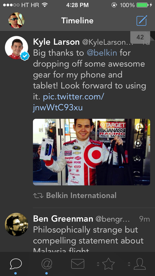Tweetbot 3.3 for iOS (Timeline, Avenir)