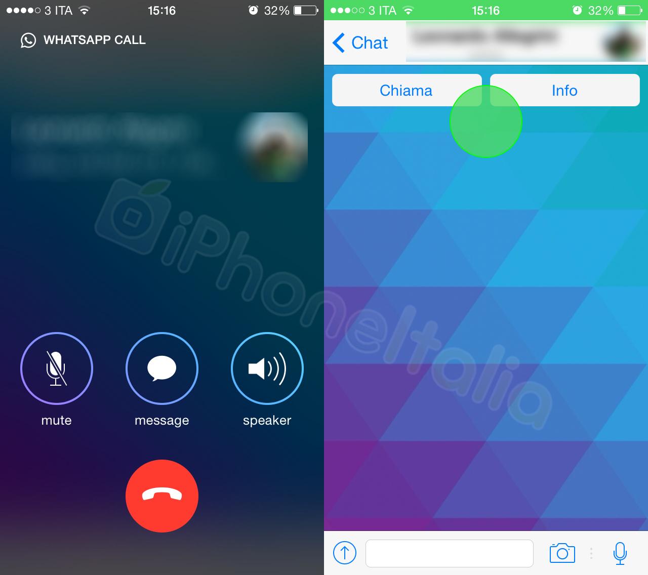 WhatsApp (VoiP calling, iPhoneItalia 002)