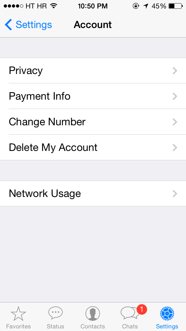 WhatsApp for iOS 2.11.8 (iPhone screenshot 002)
