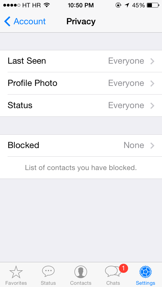 WhatsApp for iOS 2.11.8 (iPhone screenshot 003)