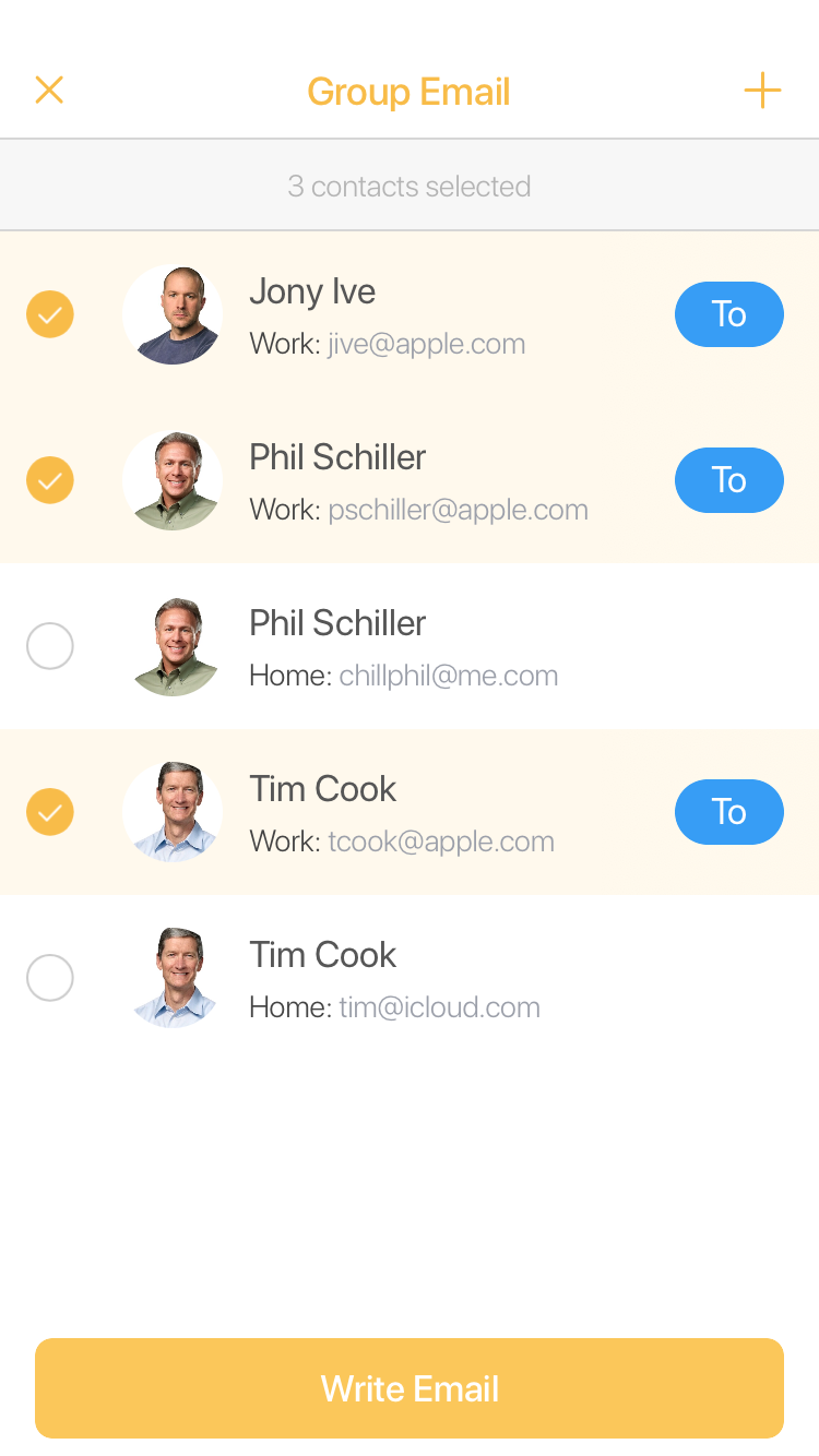 Write a group email