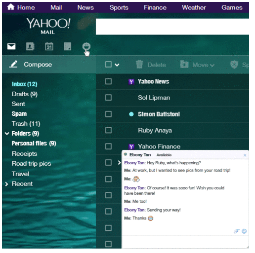 Yahoo Mail (Chat, web interface 001)