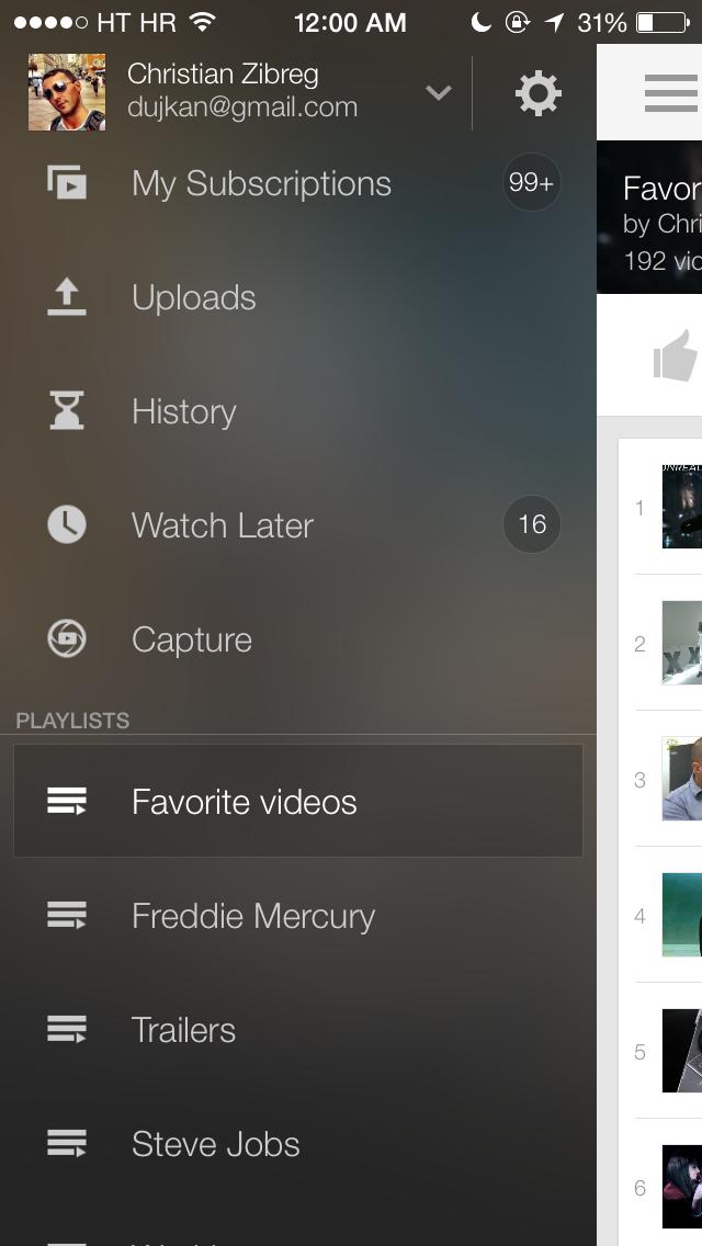 YouTube 2.5 for iOS (iPhone screenshot 009)