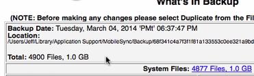 iBackupBot new file size