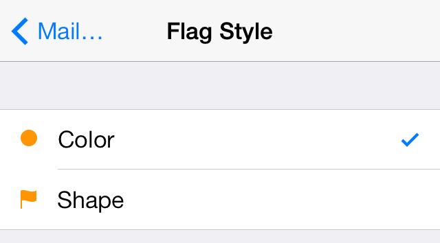 iOS 7 Mail Flag style