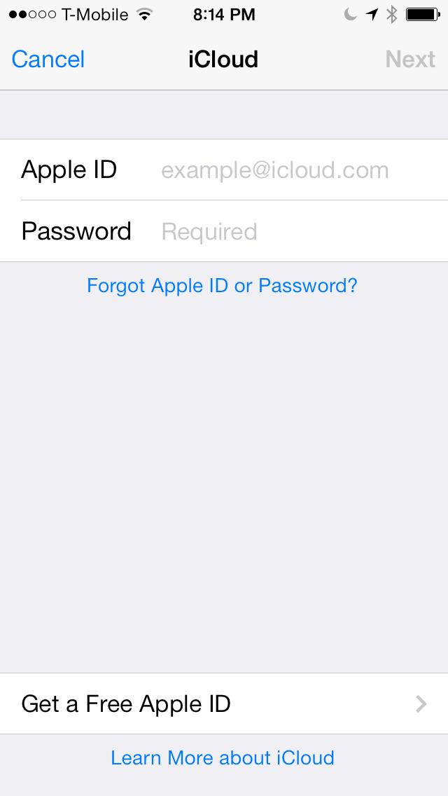 iOS 7 Mail app iCLoud