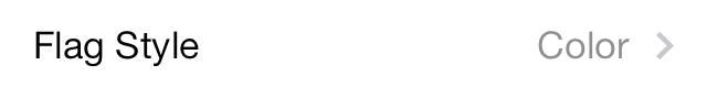 iOS 7 Mail flag style 1