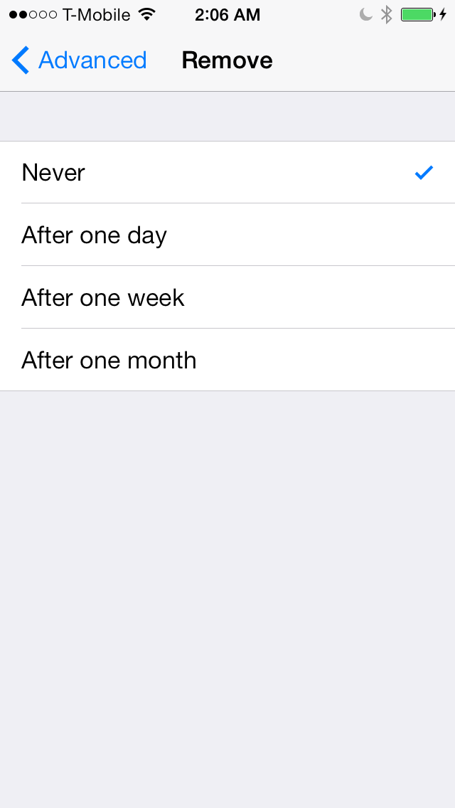 iOS 7 Mail icloud interval