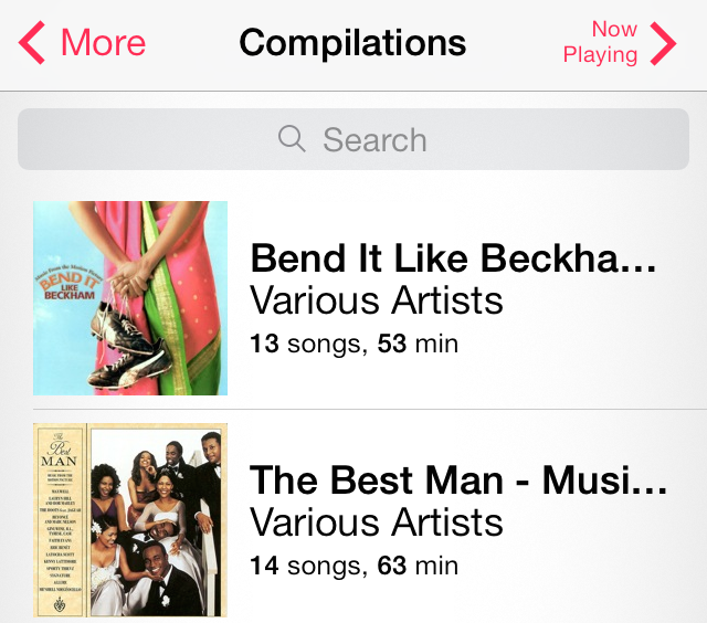 iOS 7 Music Compilations