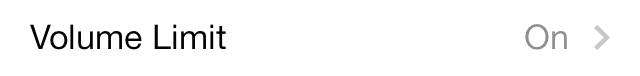 iOS 7 Music Settings Volume Limit