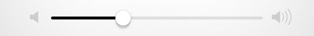 Control deslizante de volumen de música de iOS 7