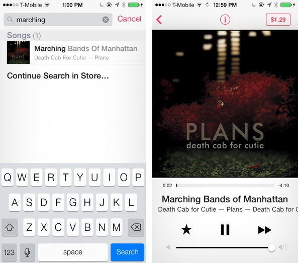 iOS 7 Music iTunes Dumb