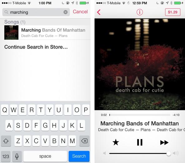 iOS 7 Música iTunes Dumb